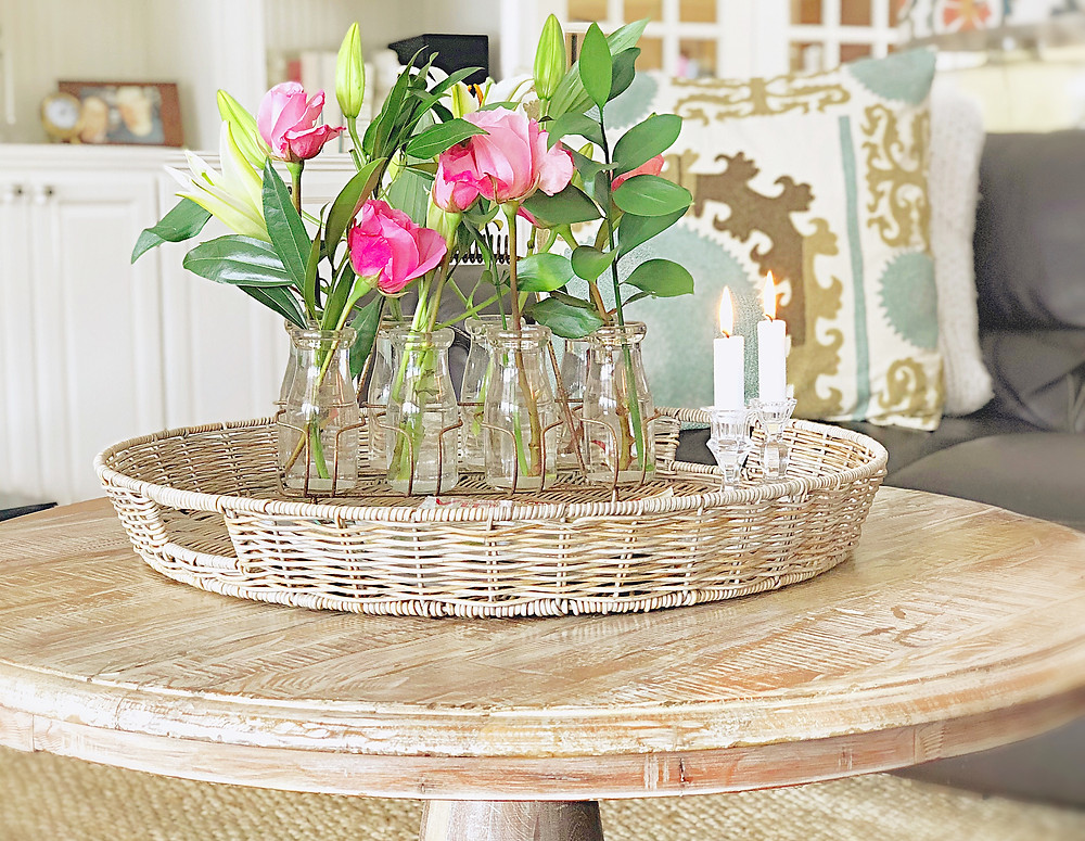 Vintage Decor with Flowers for Valentine's Day