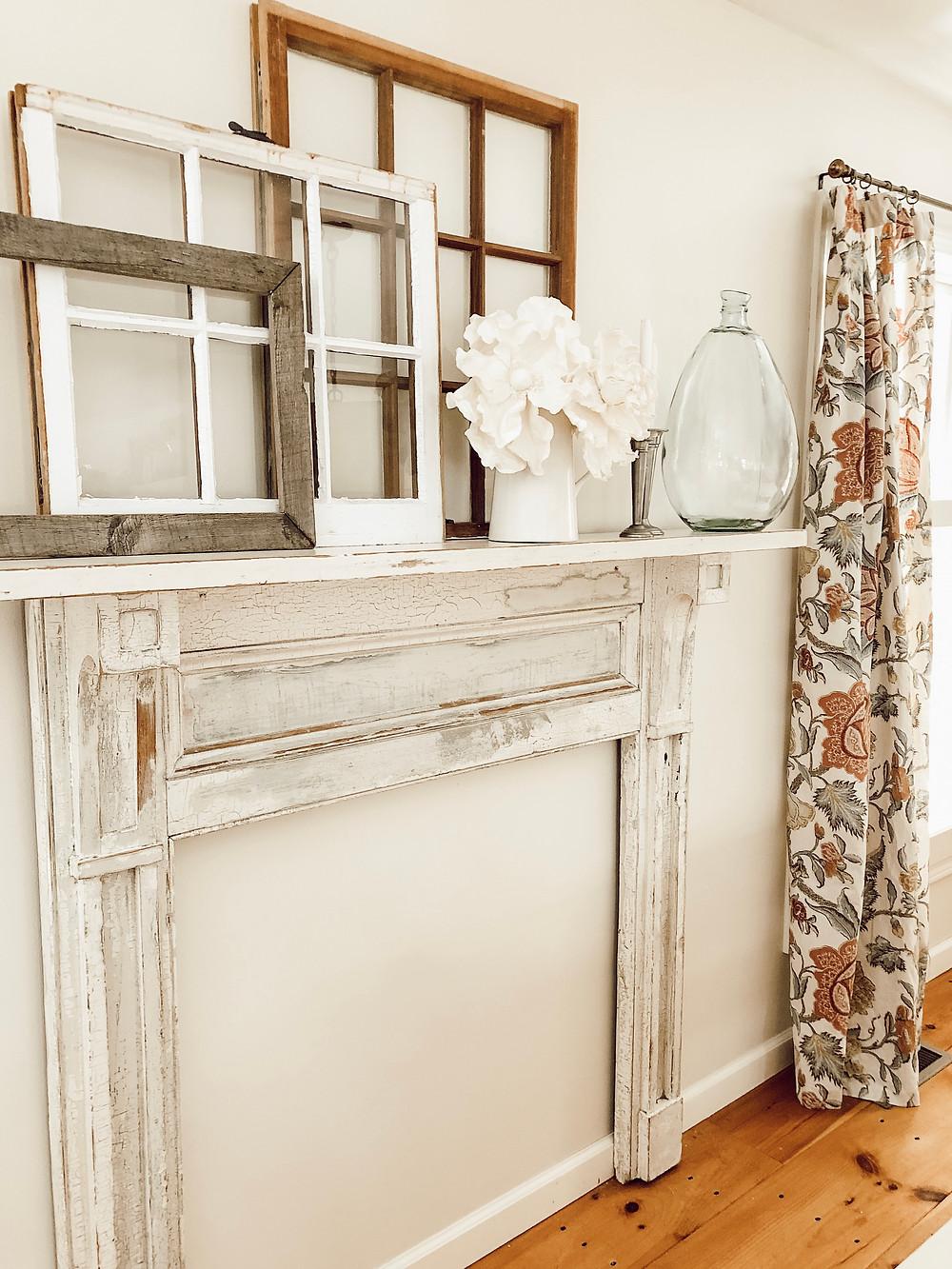 Vintage Fireplace Mantel Install & Decorating Ideas