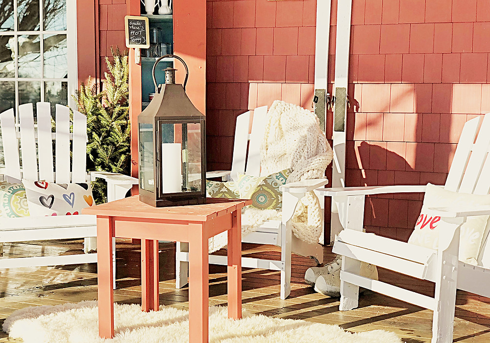 Decorating a Deck for Winter Gatherings with a Little Valentine Flair!