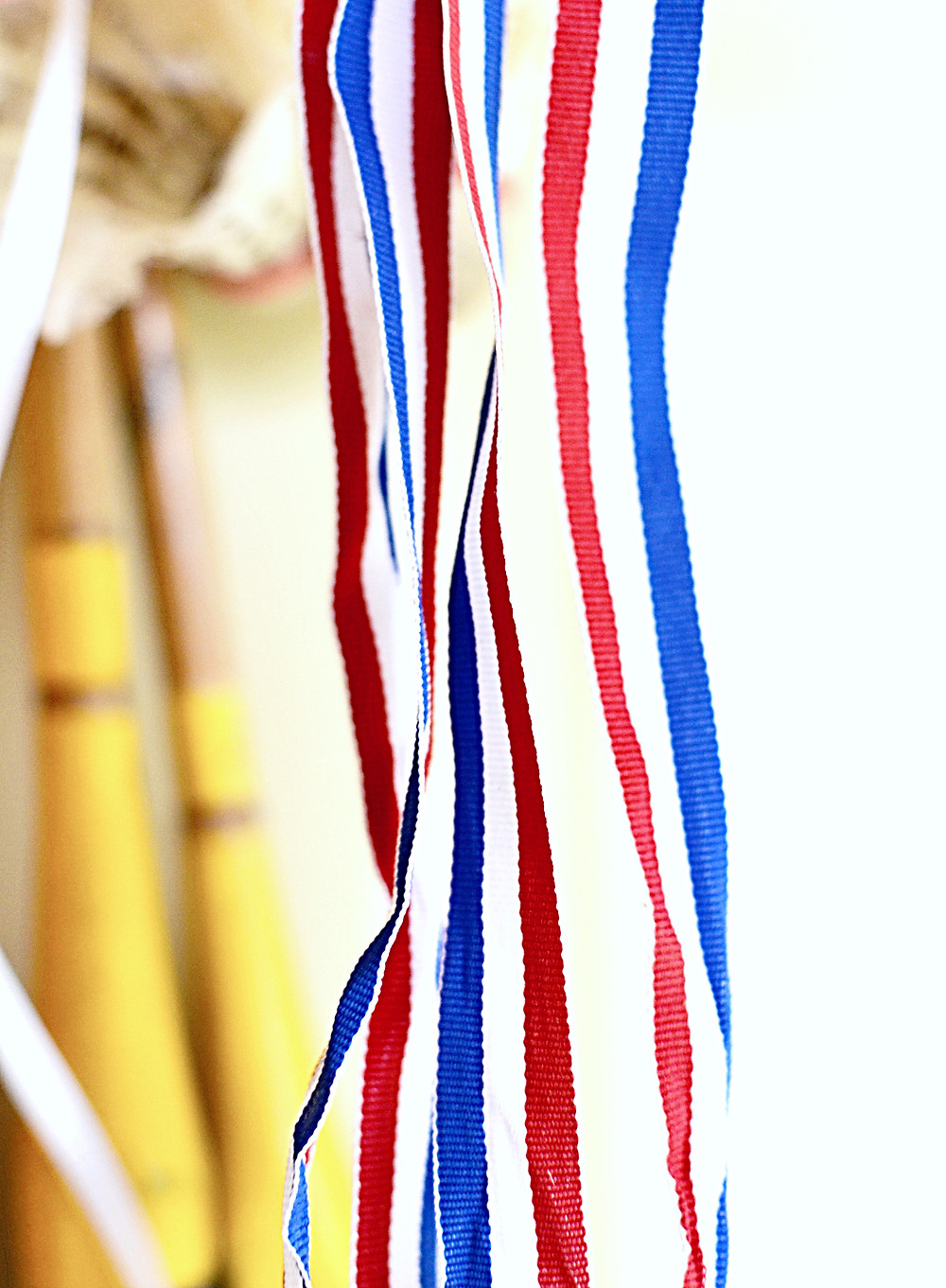Red, white and blue ribbon
