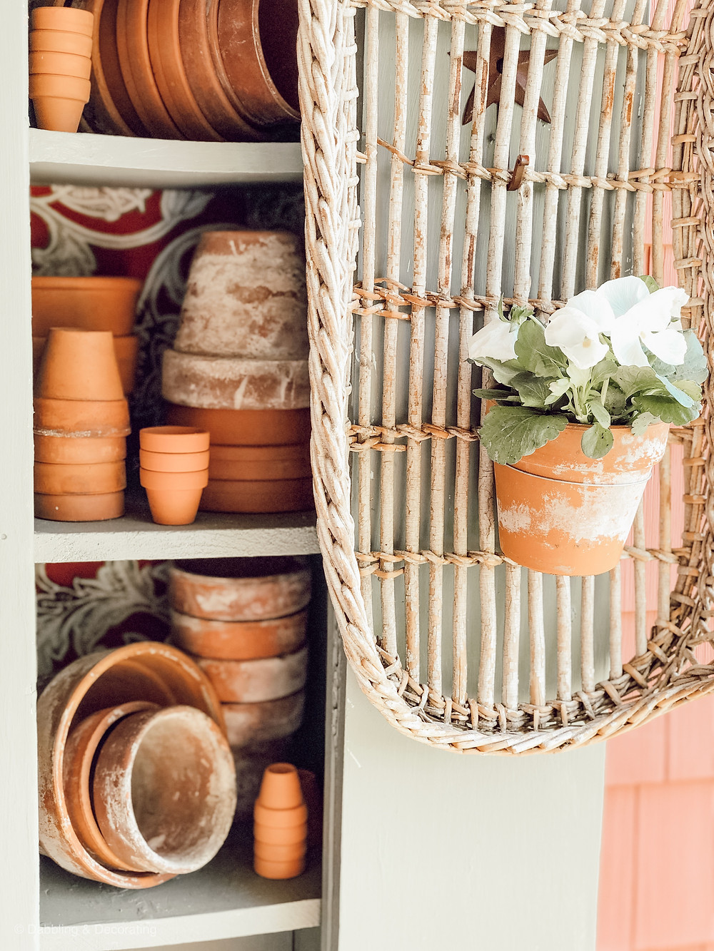 Garden Terracotta Cupboard