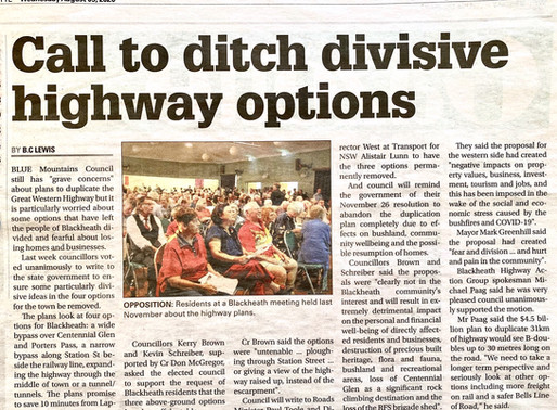 Call to ditch divisive highway options
