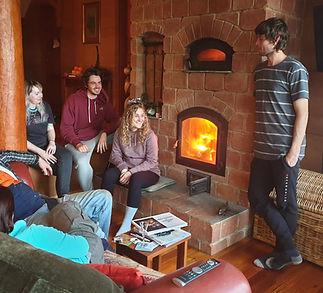 Keeping warm around the Masonry Heater