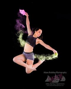 Color Powder Dance Jump
