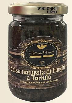 Salsa Naturale di Funghi e Tartufo Nero 130 gr