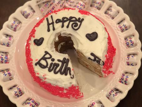 Birthday Cake or Birthday Cake Donut