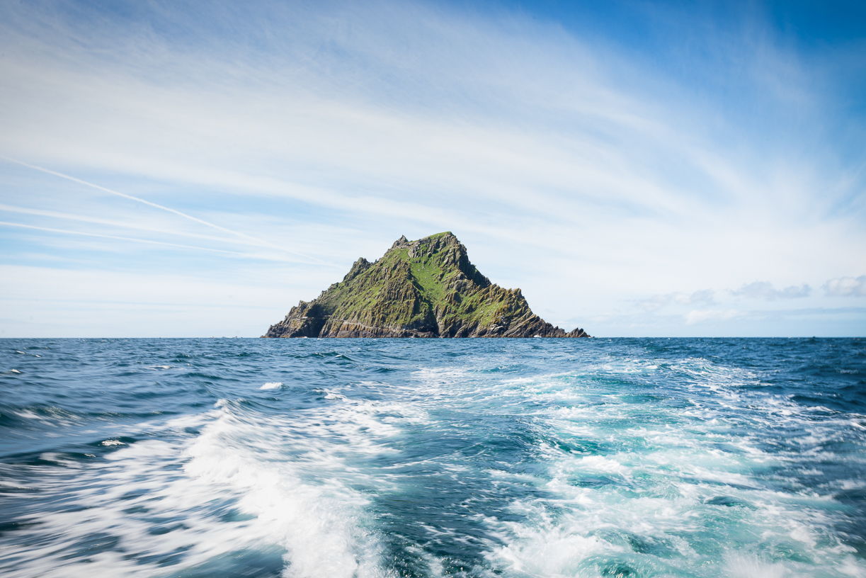 Leaving Skellig Michael