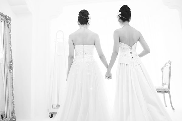 Brides Mono Wedding Day