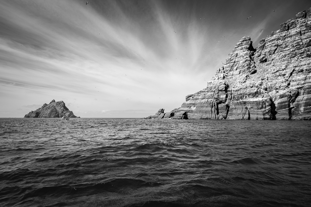 Skellig Islands B&W