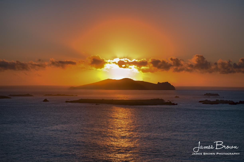 Sunset Over Inis Tuaisceart