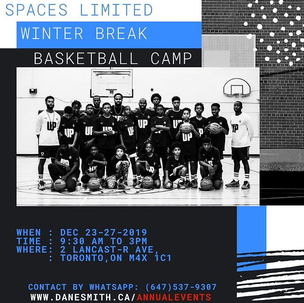 Blue and White Dynamic Basketball Social