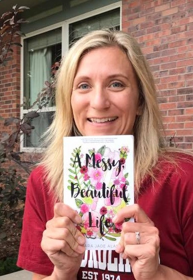 Holding my book - A Messy, Beautiful Life for the first time