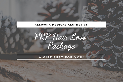 PRP Hair Loss Treatment Package of 3