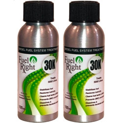 Two Pack FuelRight 30K Non-Biocide Diesel Bug Treatment - Treats 6000 litres