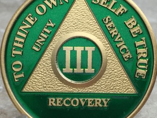On Monday September 17th, I will wake up with 3 years of continuous sobriety...