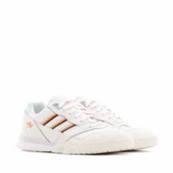 White & Orange A.R. Trainer Sneakers