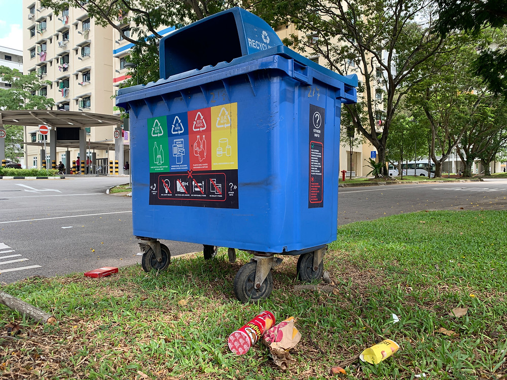 Trash spotted in Serangoon during a recce for LitteRally