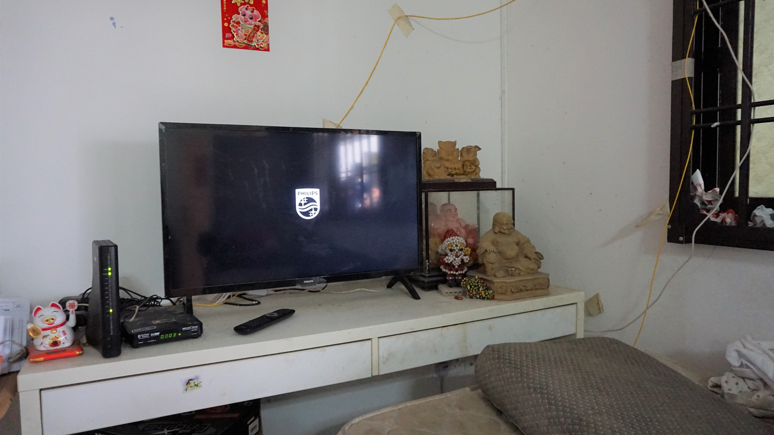 New TV bought by Mdm Kng