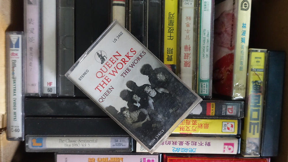 Queen's The Works casette tape from 1984