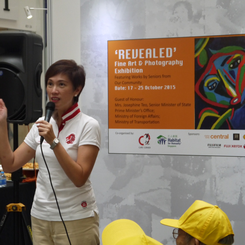 Mrs Josphine Teo opening the event