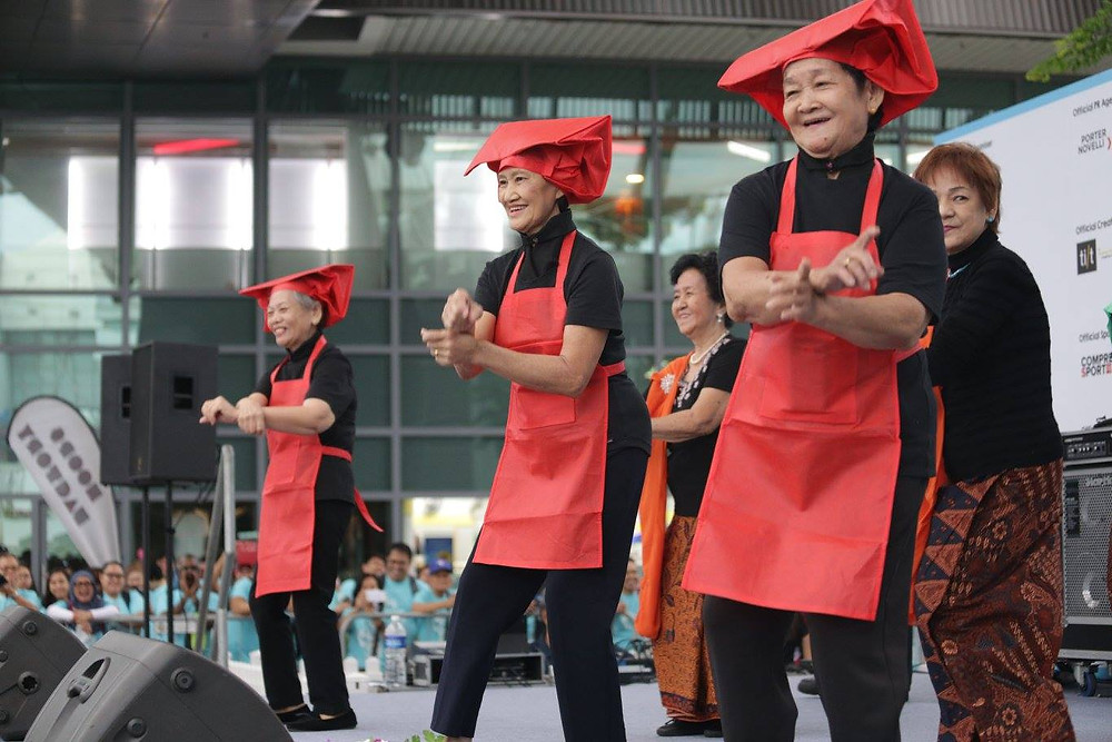 BYS elderly dance performance