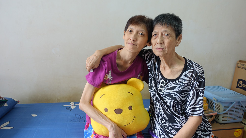 May Leng (left) and her mother Mdm Chow (right)