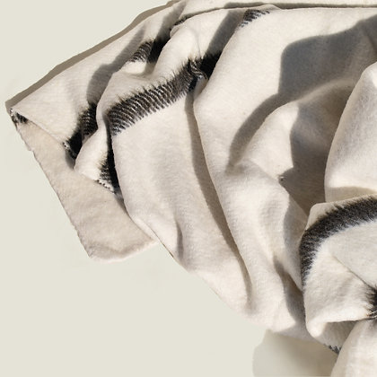 Colombian Handwoven White Natural Woollen Blanket