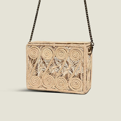 Colombian Handwoven Straw Palm Clutch Shoulder Bag