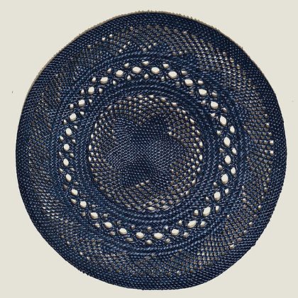 Colombian Handwoven Navy Blue Palm Placemats