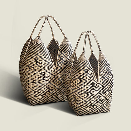 Colombian Handwoven Oversized Palm Storage Basket