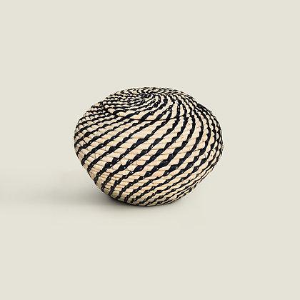 Colombian Handwoven Straw Palm Urn Storage Pot Bowl