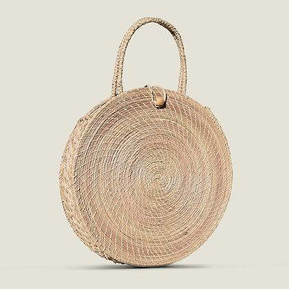 Colombian Handwoven Natural Palm Circle Beach Bag