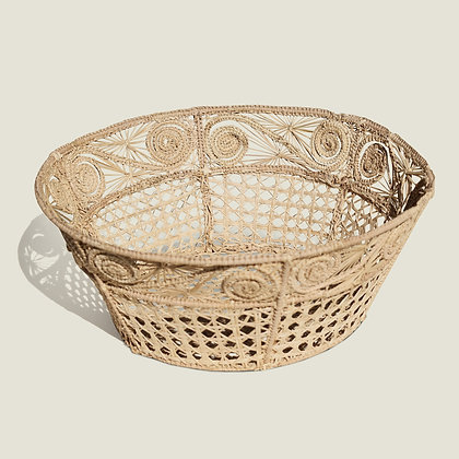 Colombian Palm Handwoven Straw Natural Bowl