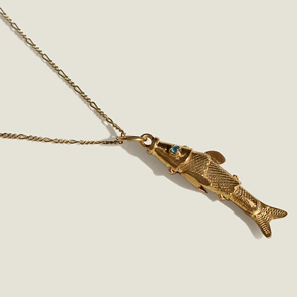 Colombian Handcrafted Gold Vermeil Fish Necklace