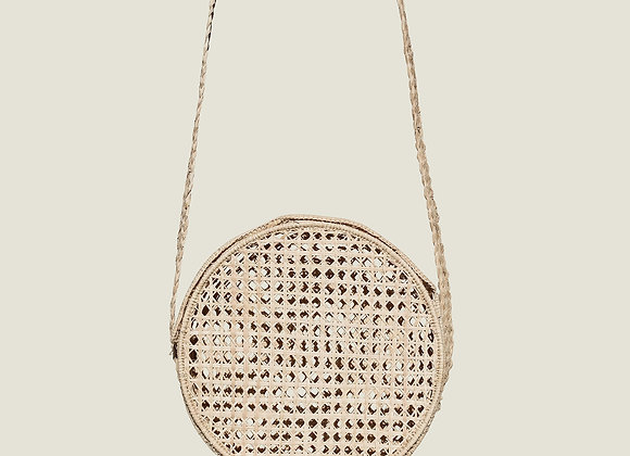 Colombian Handwoven Palm Circular Shoulder Bag
