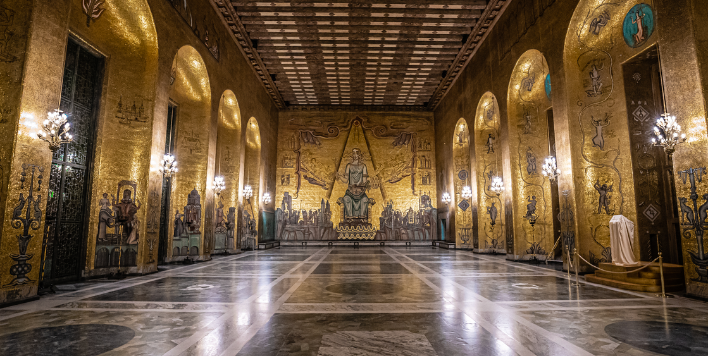Stockholm City Hall: Golden Hall