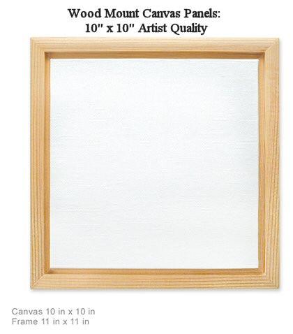 Wood Mount Canvas Panels: 10\