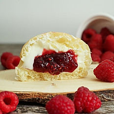 Raspberry Cream Bun