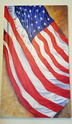 American Flag Painting.