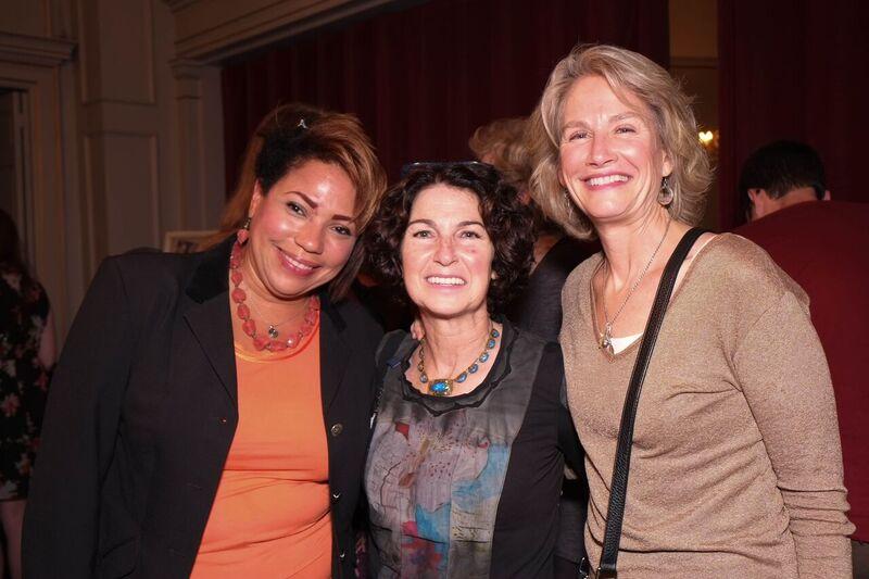 Dr Caroline King, Ellyn Wolfson, Marion Gauthier at Bette Davis Event