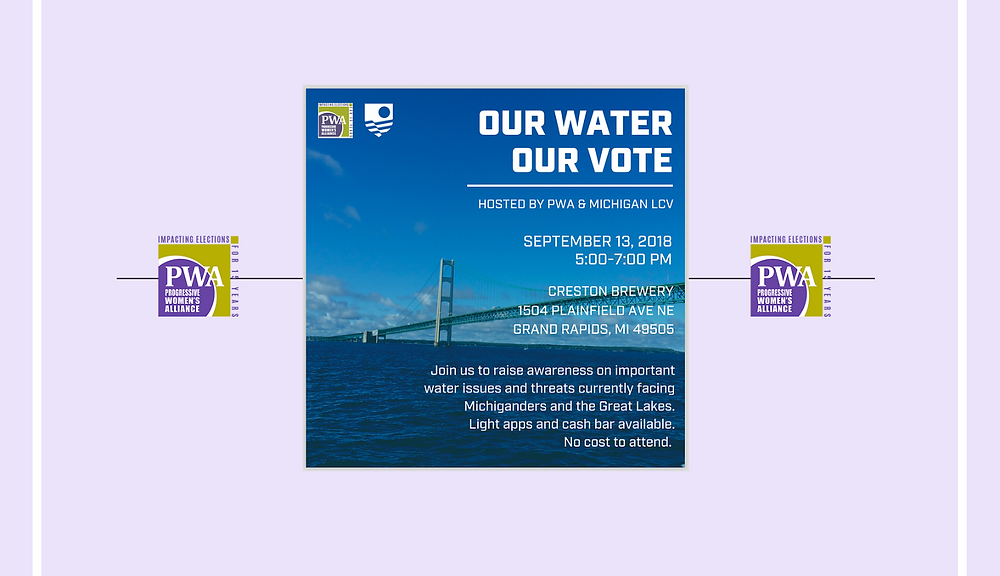 PWA, Our Water, Our Vote, September 13, 2018