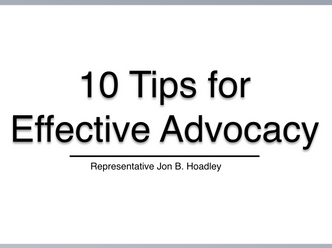 3.05.19 RECAP - What Comes Next: 10 Tips for Effective Advocacy