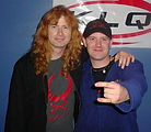 Dave Mustaine, Megadeth, Greg Giles, Metal on 107.3 WKLQ, Giles On Air, WKLQ