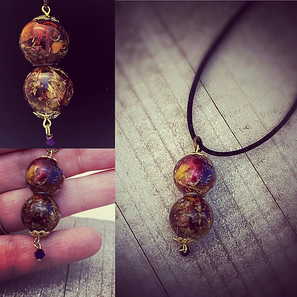 First Harvest Floral Bead Pendant