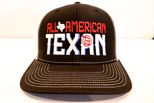 All American Texan Black and White Hat