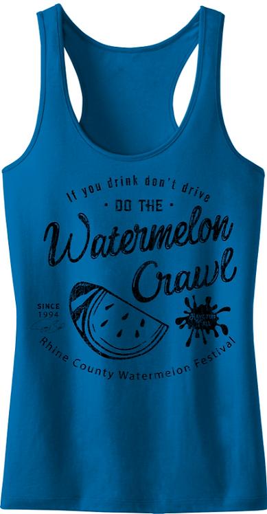 Watermelon Crawl Tank (Blue)