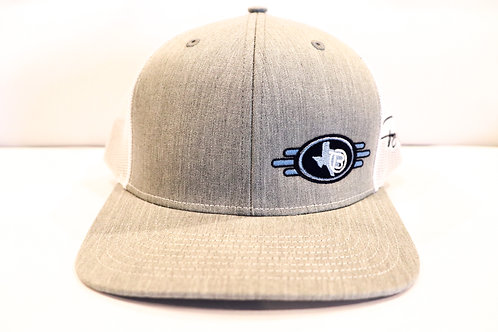 Tracy Byrd Logo Grey and White Hat