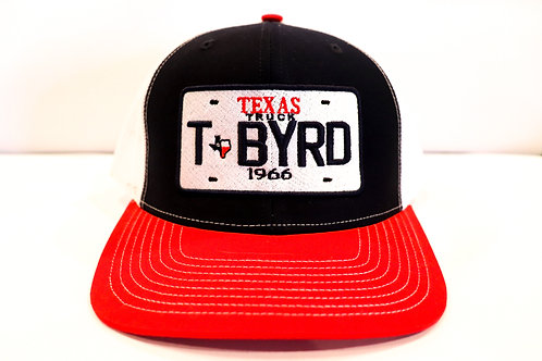 Texas Truck Red Black and White Hat