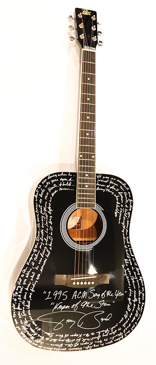 """Keeper of the Stars """"Black"""" Signed Guitar"""