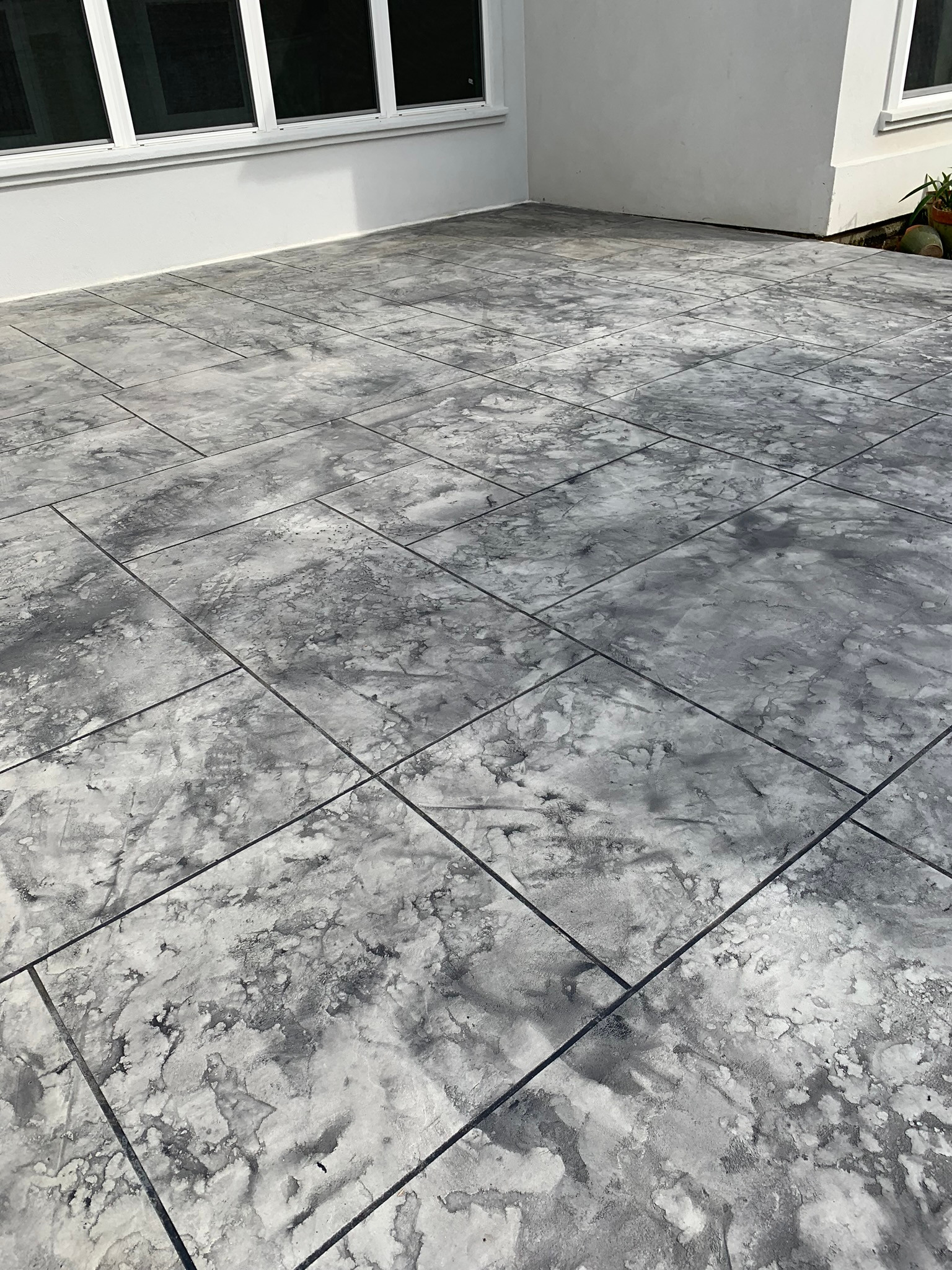 Concrete Overlay Random Slate Pattern